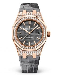 Audemars Piguet Royal Oak 18K Pink Gold & Diamond Ladies Watch 15452OR.ZZ.D003CR.01