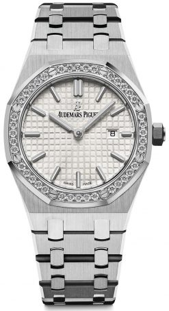 Audemars Piguet Royal Oak Quartz Stainless Steel Diamonds Ladies Watch 67651ST.ZZ.1261ST.01