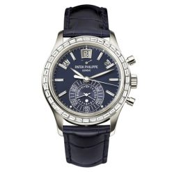 Patek Philippe Complicated Calendar Chronograph Platinum Diamonds Men's Watch 5961P-001