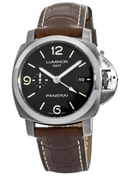 Panerai Luminor 1950 3 Days GMT Automatic Steel Men`s Watch, PAM00320 PAM00320