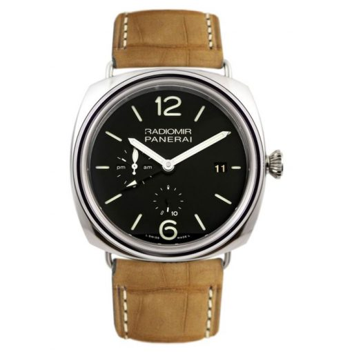 Officine Panerai Contemporary Radiomir 10 Days GMT Stainless Steel Men's Watch, PAM00323