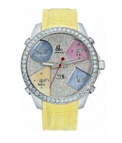 Jacob & Co Five Time Zone – 47mm Stainless Steel Diamonds Unisex Watch JC44BZ