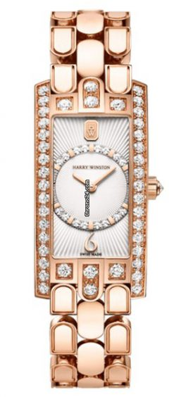 Harry Winston Avenue C Art Deco 18K Rose Gold Watch AVCQHM19RR032