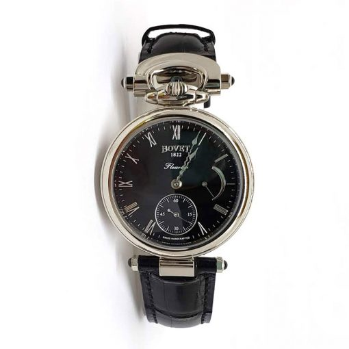 Bovet Fleurier White Gold Leather Unisex Watch, af39008