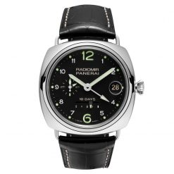 Panerai Radiomir 10 Days GMT Leather 18k White Gold Men's Watch PAM00496