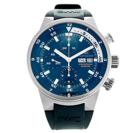 IWC Aquatimer Chronograph Cousteau Divers Stainless Steel Limited Edition Men`s Watch, preowned.IW378201