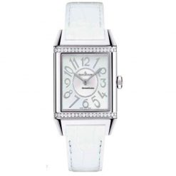 Jaeger Le-Coultre Squadra Ladies Duetto Diamonds Leather Ladies Watch, preowned.Q7058720 preowned.Q7058720