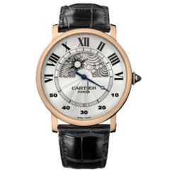 Cartier Rotonde de Cartier Jour et Nuit 18k Rose Gold Man`s Watch preowned.W1550051