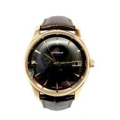 Eterna Vaughan Big Date 18K Rose Gold Men's Watch 7630.69.51.1185