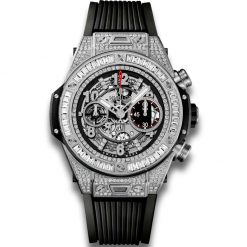 Hublot Big Bang 45 mm Unico 18K White Gold 176 Diamonds with Baguette… 411.NX.1170.RX.0904