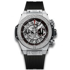 Hublot Big Bang 45 mm Unico Titanium Diamonds Men`s Watch 411.NX.1170.RX.1104