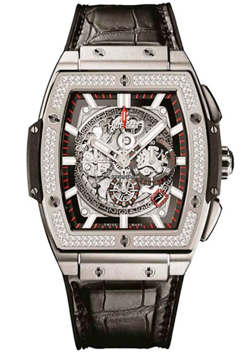 Hublot Spirit of Bing Bang Titanium Diamonds Bezel Men`s Watch, 601.NX.0173.LR.1104