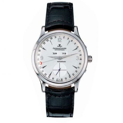 Jaeger-LeCoultre Automatique Master Date 18K White Gold Leather Men`s Watch, preowned.140.3.87