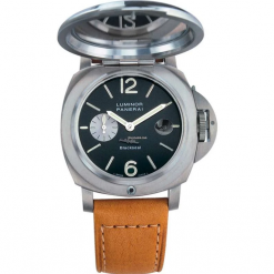 Officine Panerai Luminor Blackseal Special Editions 2002 Titanium Leather Men`s Watch preowned.PAM-00076