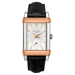 Patek Philippe Gondolo Platinum 18K Rose Gold Leather Men`s Watch preowned.5111PR