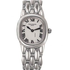 Patek Philippe Ladies Ellipse 18K White Gold Ladies Watch, preowned.4830-1 preowned.4830-1