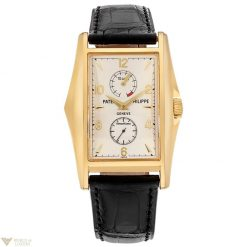 Patek Philippe 10 Days Power Reserve Limited Editions 18K Yellow Gold Leather Men`s Watch, preowned.5100J-001 preowned.5100J-001