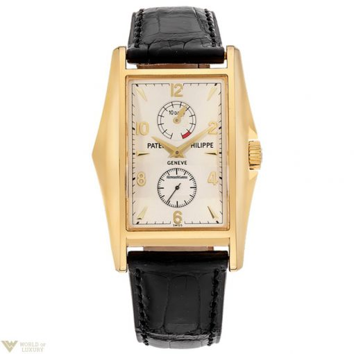 Patek Philippe 10 Days Power Reserve Limited Editions 18K Yellow Gold Leather Men`s Watch, preowned.5100J-001