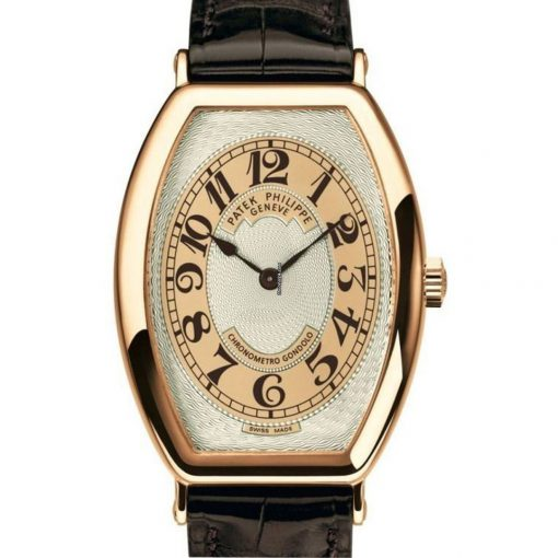 Patek Philippe Gondolo 18K Rose Gold Leather Men`s Watch, preowned.5098R-001