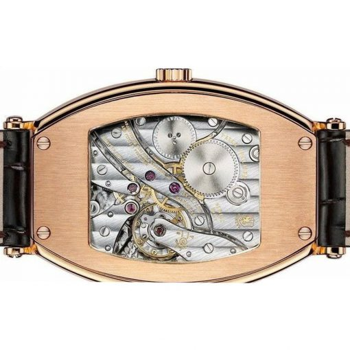 Patek Philippe Gondolo 18K Rose Gold Leather Men`s Watch, preowned.5098R-001 2