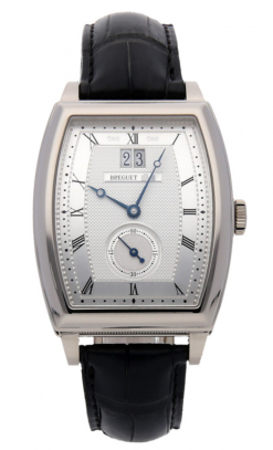 Breguet Heritage Big Date White Gold Leather Men`s Watch, preowned.5480BB/12/996 preowned.5480BB/12/996