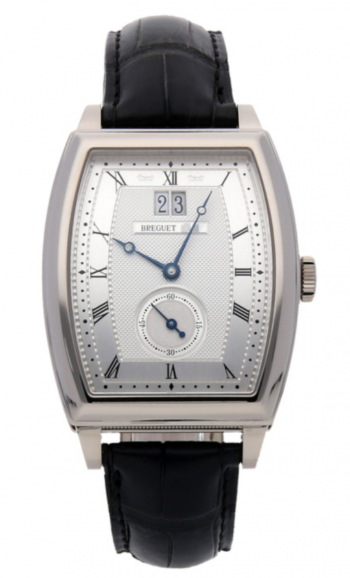 Breguet Heritage Big Date White Gold Leather Men`s Watch, preowned.5480BB/12/996