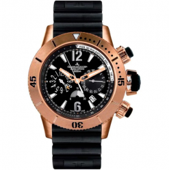 Jaeger-LeCoultre Master Compressor Diving Chronograph 18K Rose Gold Men`s Watch, preowned.Q1862640 preowned.Q1862640