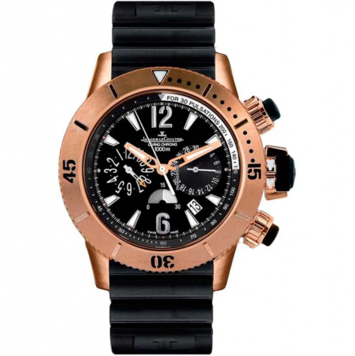 Jaeger-LeCoultre Master Compressor Diving Chronograph 18K Rose Gold Men`s Watch, preowned.Q1862640