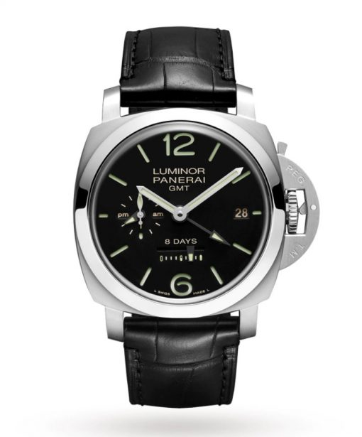 Panerai Luminor 1950 GMT Stainless Steel Men`s Watch, PAM00233