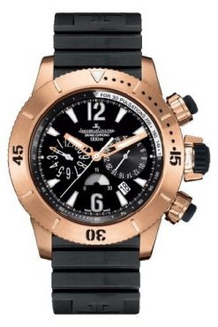 Jaeger-LeCoultre Master Compressor Diving Chronograph 18K Rose Gold Men`s Watch preowned.Q1862640