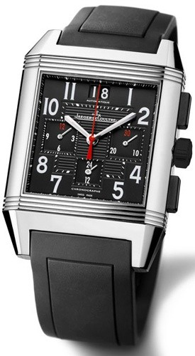 Jaeger-LeCoultre Reverso Squadra Chronograph Stainless Steel Men's Watch, preowned.230.8.45