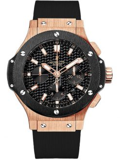 Hublot Big Bang Evolution Chronograph 18K Rose Gold Ceramic Men's Watch, preowned.301.pm.1780.rx preowned.301.pm.1780.rx