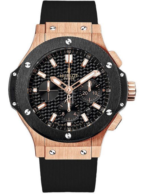 Hublot Big Bang Evolution Chronograph 18K Rose Gold Ceramic Men's Watch, preowned.301.pm.1780.rx