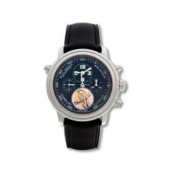 Blancpain Leman Tourbillon Chronograph Platinum Limited Edition Men's Watch preowned.2189F-3430-63B