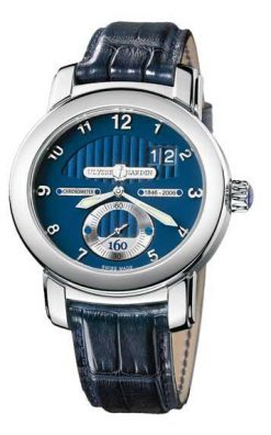 Ulysse Nardin Anniversary 160 Limited Edition 18K White Gold Men`s Watch preowned.1600-100