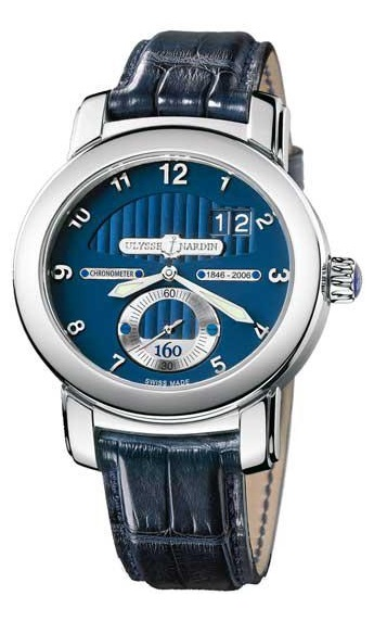 Ulysse Nardin Anniversary 160 Limited Edition 18K White Gold Men`s Watch, preowned.1600-100