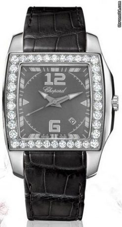 Chopard Two O Ten Stainless Steel & Diamonds ladies Watch preowned.138464-2001