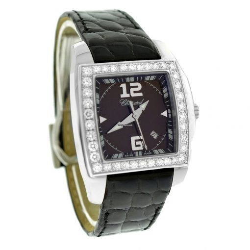 Chopard Two O Ten Stainless Steel & Diamonds ladies Watch, preowned.138464-2001 2