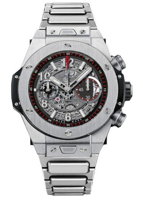 Hublot Big Bang Unico Automatic Titanium Chronograph Bracelet Men's Watch, 411.NX.1170.NX