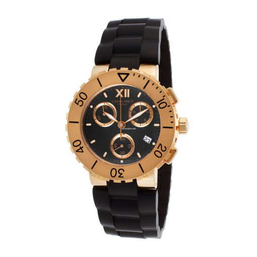 Chaumet Class One Xl Chronograph RG 18k Rose Gold Men's Watch, preowned.W06850-21R