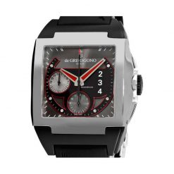 De Grisogono Power Breaker Steel Rubber Men`s Watch preowned.Power-Breaker-N02