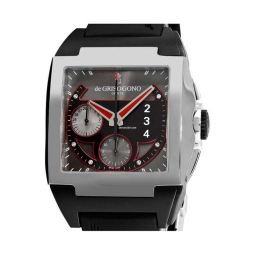 De Grisogono Power Breaker Steel Rubber Men`s Watch, preowned.Power-Breaker-N02