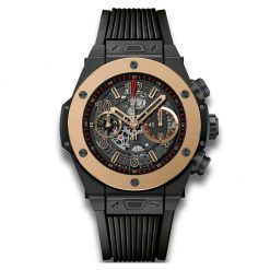 Hublot Big Bang Unico Automatic Ceramic Rose Gold Chronograph Skeleton Rubber Men's Watch 411.CM.1138.RX