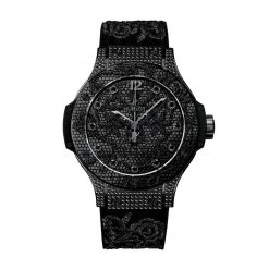 Hublot Big Bang Broderie All Black Diamond Stainless Steel Automatic Women's Watch 343.SV.6510.NR.0800