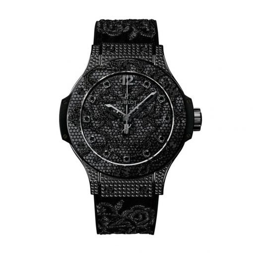 Hublot Big Bang Broderie All Black Diamond Stainless Steel Automatic Women's Watch, 343.SV.6510.NR.0800