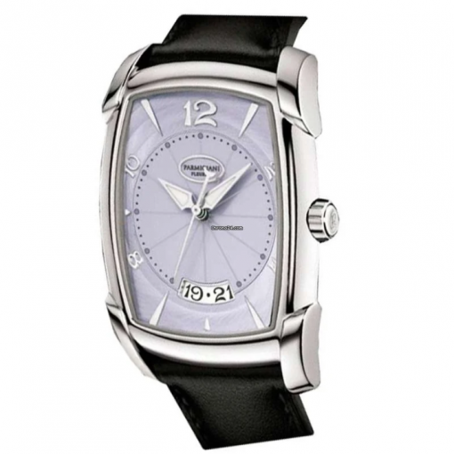 Parmigiani Kalpa XL Steel Stainless Steel Leather Men`s Watch, preowned.PF011930.01