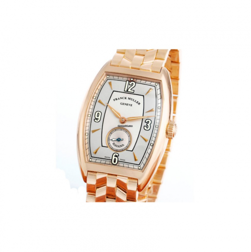 Franck Muller Cintree Curvex Havana 18K Rose Gold Men`s Watch, preowned.2852-S6
