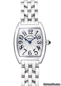 Franck Muller Lady's Curvex 18K White Gold Ladies Watch preowned.2500-QZ