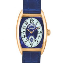 Franck Muller Cintre Curvex Chronometro Lady Blue Dial 18K Rose Gold Ladies Watch preowned.7502-S6-CHRONOMETRO-Blue