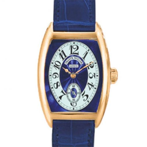 Franck Muller Cintre Curvex Chronometro Lady Blue Dial 18K Rose Gold Ladies Watch, preowned.7502-S6-CHRONOMETRO-Blue